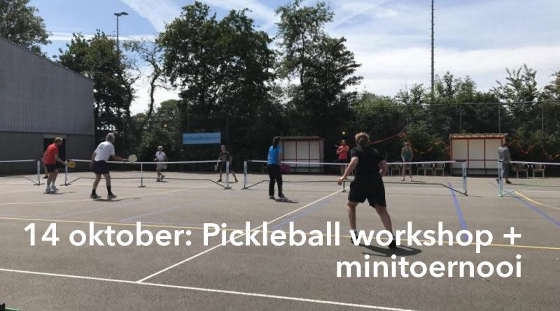 14 okt: Kennismaken met Pickleball en minitoernooi