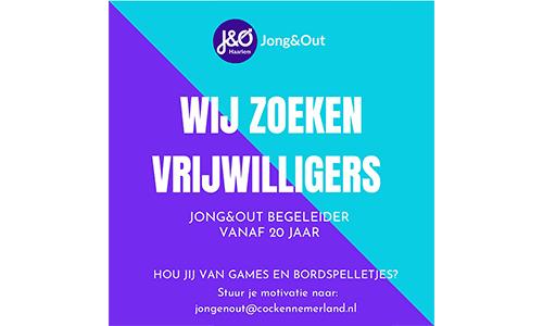 Jong&Out zoekt vrijwilligers
